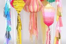Party Dekoration || party decorations / Dekorationen aus Papier und anderem für Partys, Feste und anderes  //  crafting with paper and other materials DIY for party or other festive events