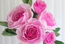 DIY Papier Blumen || DIY paper flowers / Blumen in ihren natürlichen und in fantastischen Formen <3 ----- flowers made out of paper  so so pretty!