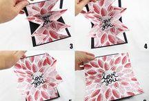 Papier Karte DIY /// paper card DIYs / Tolle Karten zum selber basteln ------ craft your own gift cards!