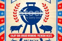 It's Grill Time _ the best BBQ invitation Ideas / Images and Illustrations of barbecue and barbecue party invitations. The bbq board also includes barbecue vector icons and backgrounds.