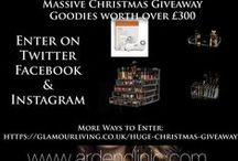 Competition - CHRISTMAS GIVEAWAY / Our Huge Christmas Giveaway - hosted by brands/blogger: Glamourliving - Glamourliving.co.uk Arden Clinic - ardenclinic.com & Stefy Puglisevich - blogger