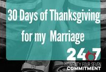 30 Days of Thanksgiving for my Marriage with 24-7 Commitment / There is always, ALWAYS, something to be grateful for. But dig deeper than the 2 second, routine statements of gratitude we see everywhere.  What does YOUR gratitude look like?   Join us on a journey to experience the fullness of gratitude. http://firefighterwife.com/marriagethanksgiving/