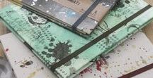 QuAdeRniMaCcHiAtI / covers, binding, inside pages, book , papers, stamp, drawing, all done by hand