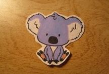 Homemade Stickers / Want one of your own? Want to request an animal or a person? Let me know! / by Katie Lee