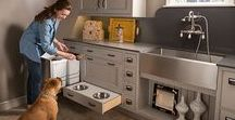 Waste Bins / trash and recycling organization featured in This Old House and Apartment Therapy! Cabinet pullout units to keep your kitchen clean and organized by Kessebohmer Clever Storage