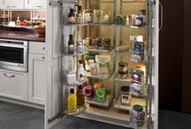 Tandem Pantry / Full access pantry storage for organized kitchens. Try it other places like the garage as well!