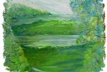 """The Story of a Painting / Every painting has a story in words, be they impressionist or """"Stains of Thought"""""""
