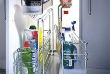 Portero / under sink organization for kitchen and bathroom cabinetry