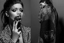 BLACK AND WHITE / Fashion images in black and white photography
