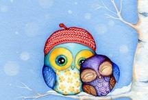 owls / by queenbeader