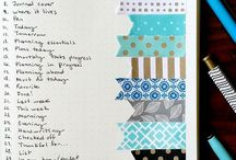 """Bullet journal / How to do the """"to do list"""" nicer :)"""