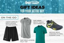 Holiday 2015 Gifts For Guys / Shop our collection of fitness gifts for guys for the active men in your life. Our hand-selected gift ideas from clothing to accessories are wonderful gift ideas for men's activewear. We've also included fitness gift ideas from beanies and watches to shoes and jackets.    / by Sport Chalet