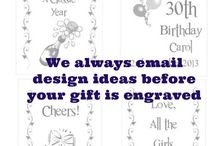 Bespoke Personalised Gifts / At AuntyLil's Place you can order unique bespoke Personalised Gifts made to your own design ideas or get ideas from our online galleries.
