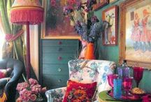 Bohemian / Decoration, style, clothes, rooms