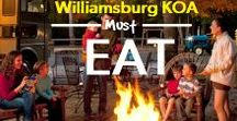 Williamsburg KOA Must Eats! / Restaurants and meals you have to try while at the Williamsburg KOA.