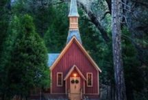 Churches-God's buildings! / For the faithful!  Pin all you want! / by Julie Crowell