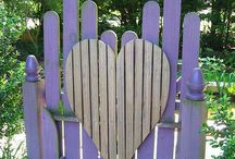 Garden Gates and. Benches and Trellises / Enter, sit, and enjoy!  Pin all you want! / by Julie Crowell