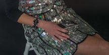 Recycled Fashion & Jewellery / Artist Christeena MacDonald - Paea, recycled hand-painted jewellery & wearable art/ecofriendly fashion