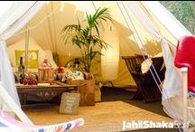 Jah Shaka's teepees / ***NEW THIS SEASON!*** Our Luxury Teepees and Bell Tents are now available to book. All furnished with comfy beds, carpets, rugs, electricity, mood lighting...our new favourite place to stay.