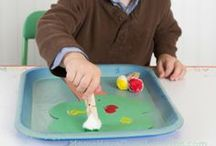 Tot Tray Ideas / Montessori inspired tray work for toddlers!