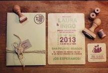 Invitaciones y papelería de boda - Wedding Invitations / Son la carta de presentación de tu boda, cuando las vean, tus invitados sabrán a qué atenerse. Atenta a la tipografía y a la calidad del papel (si es que no las imprimes en tela, madera, ...)