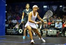 Squash Players In Action