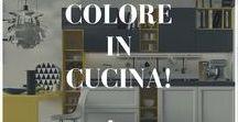 Colore in cucina! / #Arredamento #cucina #colorato. Toni caldi o freddi? Colori brillanti e accesi o opachi? Personalizzate la vostra casa secondo il vostro gusto, scegliendo i vostri colori preferiti!