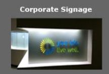 NEWPORT SIGNS   corporate signage / custom ADA compliance signs // custom lobby signs // office nameplates // laboratory signs // outdoor 3 dimensional letters // miscellaneous signage
