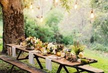 Outdoors entertaining