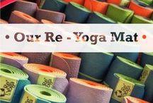"""• Our Re - Yoga Mat • / Il tappetino da Yoga è un'estensione di sé. Quel piccolo """"rifugio sicuro"""", dal perimetro rettangolare, su cui imparare e riflettere, che in un attimo si può arrotolare, caricare in spalla e portare ovunque si desideri!!  //  The yoga mat is an extension of ourselves. That little """"safe haven"""", with a rectangular perimeter, on which to learn and think, that in a moment you can roll up, load on your shoulders and carry anywhere you want!!"""