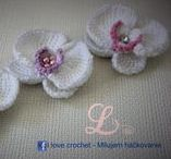 Crochet Orchid / Free video tutorial and schemes. How to crochet orchid, tunisian crochet.