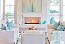 Coastal Chic / A bit of coastal, a bit of colonial all come together to make a very chic space!