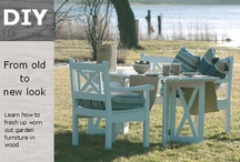 Garden furniture / Learn how to fresh up worn out garden furniture in wood. It's easy and efficient - naturally.