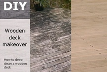 Deck makeover / How to deep clean a wooden deck