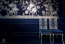 Chinoiserie // Style / We love De Gournay. Hand-painted (chinoiserie) designs on luxury silk wallpapers.