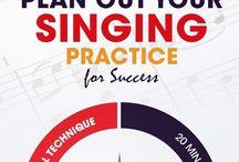 Singing / Helping me regain my voice