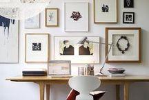 gallery walls / ideas for art walls