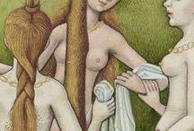 Iluminacje: nagość / Ludzkie ciało na średniowiecznych miniaturach.