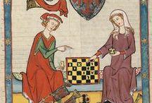 Iluminacje: dwór / Życie dworskie na średniowiecznych miniaturach.