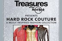 TREASURES... / HARD ROCK COUTURE - A MUSIC INSPIRED FASHION COLLECTION!  THE MUST-SEE EXHIBITION SHOWCASES PRICELESS PIECES FROM JOHN LENNON, MICHAEL JACKSON, LADY GAGA, THE WHO, THE KILLERS, ELVIS, JIMI HENDRIX, MADONNA, KISS, ELTON JOHN, FREDDIE MERCURY, FERGIE, MOTLEY CRUE, SHAKIRA, AC/DC, SEX PISTOLS, KATY PERRY...