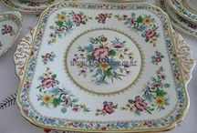 Vintage China Plates & Platters For Events Hire / This cabinet is full of Cake plates, Sandwich platters, Side plates, Luncheon plates, Dinner plates. Mix and Match your vintage china!   High Tea Hire Napier is a place all ladies love to visit.  Make an appointment to view this great selection of old elegant vintage china and many other items for hire.