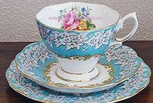 Vintage Tea Cups / Fine Vintage Bone China Teacups for Hire. Royal Albert, Royal Vale, Colclough, Queen, Anne, Queen Ann,