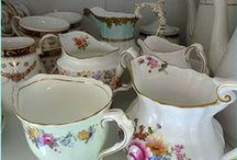 Hire Vintage Milk /Creamer Jugs & Sugar Bowls for Events / High Tea Hire Napier New Zealand has fine vintage and antique milk jugs, creamers, and sugar bowls for hire. Add a touch of vintage shabby chic to your special event, wedding, bridal shower, Baby shower, or any other function you may be holding.