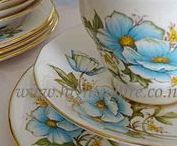 Vintage Tea Sets For Hire / Fine English Bone China Tea sets For Hire. World famous names like Royal Albert, Queen Anne and more.