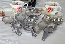 Tea Strainers / A selection of various vintage to modern Tea Strainers for hire.  Tea Strainers are making a come back as people are now turning back to the loose tea leaf.
