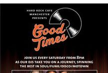 GOOD TIMES / Join us every Saturday from 8pm until midnight and enjoy #GoodTimes at Hard Rock! Our resident DJs will be playing the best of Soul, Disco, Funk and Motown whilst in the bar area you can enjoy extended Happy Hour offers on selected cocktails and beers! It's free entry and everyone's welcome so come on down and let the good times roll!