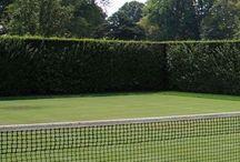 Tennis Court In Garden
