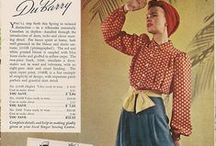 1940s / Gorgeous fashion from the 40s