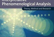Interpretative Phenomenological Analysis - IPA