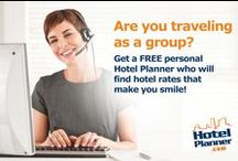 Get To Know HotelPlanner! / It is so nice to meet you! As a leader in the group travel sector, we continuously share expert advice with media portals, stay up-to-date on current travel and technology trends, and take pride in 'giving back' through charities and sponsorship opportunities. Check us out at HotelPlanner.com    for great group hotel rates and individual discounts for your next trip! / by HotelPlanner
